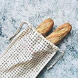 Fisura | Bolsa para el Pan de algodón y poliéster. 50 x 25 cm. Panera para...