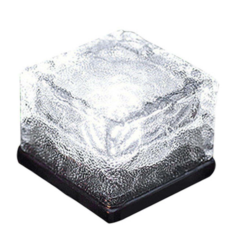 人物トレース水星SIKIWIND ソーラーチャージLEDライト 水晶レンガ形 IP68 芝生ライト 庭園装飾 充電不要 インストール不要 自動点灯 (昼白色)