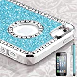 baby blue glitter iphone case