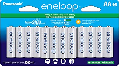 Panasonic BK-3MCCA16FA eneloop AA 2100 Cycle Ni-MH Pre-Charged Rechargeable Batteries,..