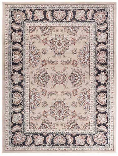 Pamir K472C - Alfombra clásica floral para salón y ambientes clásicos y modernos, estilo Herati Zigler Beige