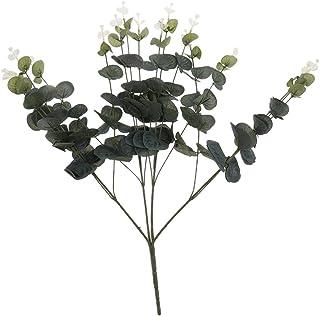 Vosarea Flor Artificial de Algod/ón Rama de Eucalipto Deja Simulaci/ón Bouquet de Flores Fiesta de Boda Decoraci/ón para el Hogar Decoraci/ón de Habitaciones
