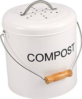 Garden Fertilizer Trash Can with Lid Trash Can - Kitchen Garden Fertilizer Barrel Deodorant Mini Bucket with Lid Storage Bin