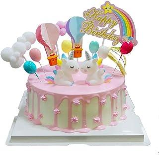 BluVast Cake Topper Unicornio, Decoraciones de Pasteles