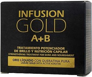 Tahe 12073151- Infusion Gold Tratamiento Capilar Potenciador de Brillo y Nutrición con Oro Líquido y Keratina Pura 2 x 10 ml