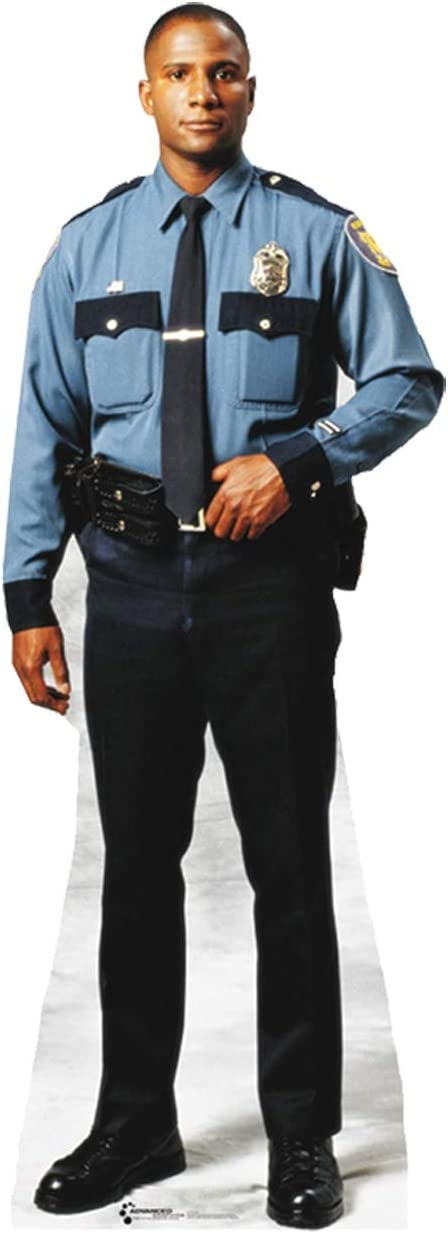 Cardboard Courier shipping free shipping People Policeman Life Cutout Standup Long-awaited Size
