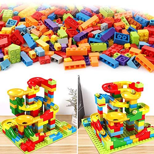 MYAMIA 200 Stück/Set Labyrinth Kugelbahn Bausteine ??Abs Trichter Folie Ziegelblöcke Zusammenbauen Spielzeug