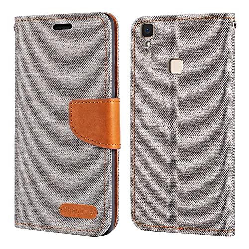 Vivo V3 Case, Oxford Leather Wallet Case with Soft TPU Back Cover Magnet Flip Case for Vivo V3