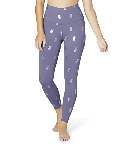 Beyond Yoga High Waisted Midi Leggings (Dusty Violet Pineapples) Women