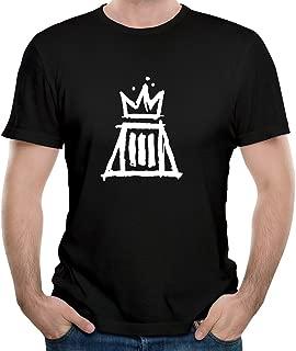 Gody Men's Fall Out Boy Rock Band Logo Folie à Deux O-neck Shirts Vintage Black XXL