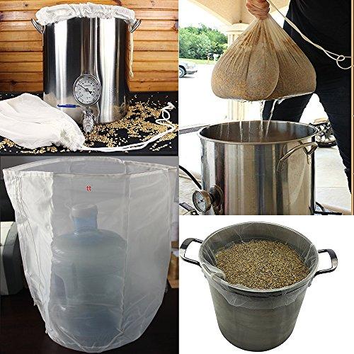 2pcs reutilizable Durable de calidad alimentaria nailon tuerca de cerveza Homebrew 100bolsa...