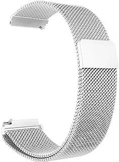 أوستيك / سوار / حزام معدني للساعات الذكية متوافق مع سامسونج جالاكسي 46 ملم / هواوي جي تي 2 / جير اس 3 فرونتير وكلاسيك / هو...