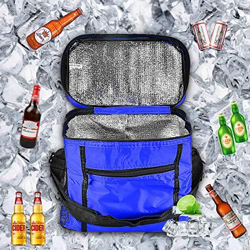 Borsa Termica, Borsa da Picnic, Borsa frigo da picnic,borsa termica porta pranzo,Utilizzato per picnic, viaggi, campeggio, barbecue, spiaggia, ufficio. (blu)