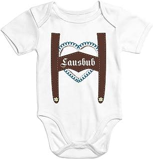 MoonWorks Kurzarm Baby Body Lausbub Bio-Baumwolle mit lustigen Spruch Junge Onesie Babykleidung