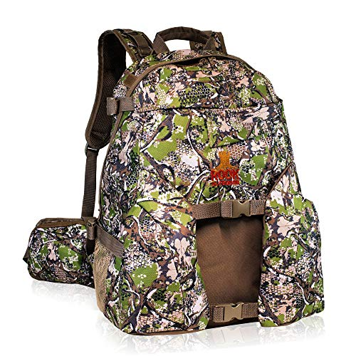 Rook Outdoors Large Hunting Backpack - Hunting Backpack with Rifle Holder, Unique Camo Design and...