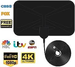 [Nueva versión 2019]Antena TV Interior VicTsing,TV portátil HDTV Digital,40KM Gama de Recepción,Ultra Delgado Amplificador de Señal Removible, cable largo de 3M,Apto para Todos los Tipos de TV