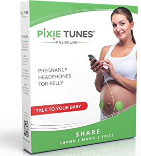 Pixie Tunes Premium Award-Winning Baby Bump Speaker. #1 Pregnancy Headphones to Play Music, Sound and Talk to your Baby in...