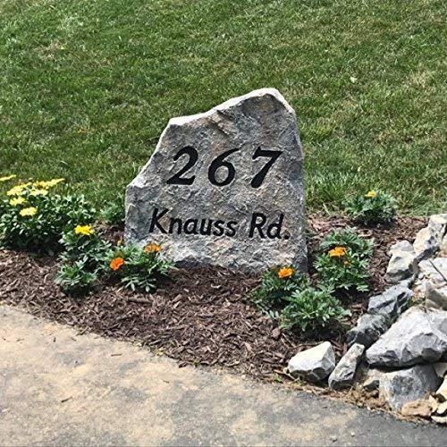 Address Stone - Large Size - 22 x 22 x 11 inches - artificial