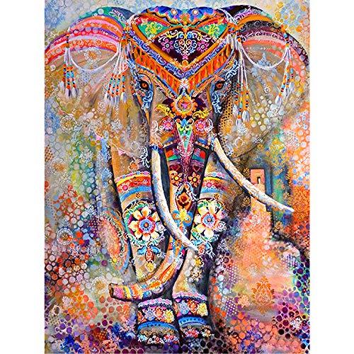 DIY 5D Diamond Painting Kit Completo Punto de Cruz Diamante,Elefante Animal Pintura de Diamantes 30x40cm,Pintar con Diamantes Kits,Cuadro de Diamantes Manualidades para Decoración de Pared