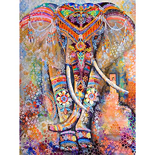 DIY 5D Diamond Painting Kit Completo,Elefante Animal Pintura de Diamantes 5d 30x40cm,Pintar con Diamantes Kits,Diamont Paintings Bordado de Punto de Cruz, Manualidades para Decoración de Pared