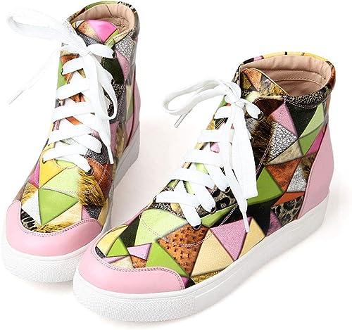 Hauszapatos de deporte para mujer zapatos de cuero nuevos para mujer Hauszapatos de deporte aumentadas zapatos para mujer zapatos casuales botas para mujer (Color   UN, tamaño   36)