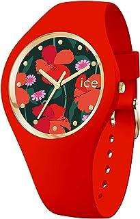Ice-Watch - Ice Flower Floral Passion - Orologio da Donna con Cinturino in Silicone - 017576, Small, Rosso