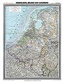 Historische Karte: NIEDERLANDE, BELGIEN und LUXEMBURG- um 1900 [gerollt]: Carl Flemmings Generalkarte, No. 31. - Friedrich Handtke