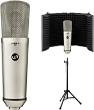 Warm Audio WA-87 R2 Large Diaphragm Condenser Microphone (Nickel) Bundle with Reflection Filter & Mic Stand