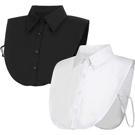 Falso Cuello, Falda Media Blanca para Mujeres con un diseño ...