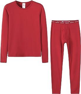 Hibote Uomo Donna Set Intimo Termico Maglia Alta qualit/à T-Shirt Maniche Lunghe /& Pantaloni Invernali Traspirante Cotone Confortevole Invernale Caldo Morbido Uomo L-3XL