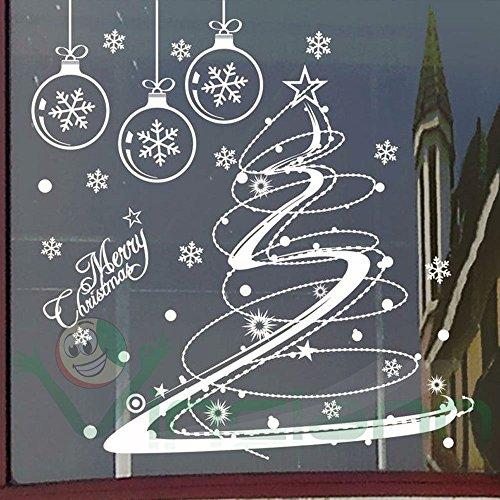 Wall sticker adesivo Christmas Tree vetrofania vetrina negozi parete muro Natale