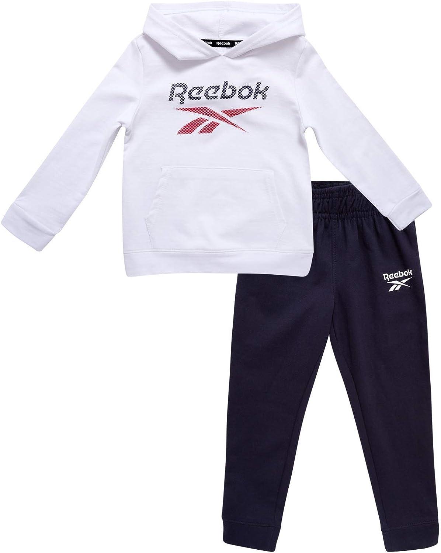 Reebok Baby Boy's Tracksuit – Athletic Fleece Sweatshirt and Jogger Sweatpants Playsuit Set (Infant/Toddler)