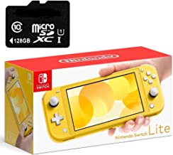 "Newest Nintendo Switch Lite Game Console, Yellow, 5.5"" Touchscreen, Built-in Plus Control Pad, W/128GB Micro SD Card, Buil..."