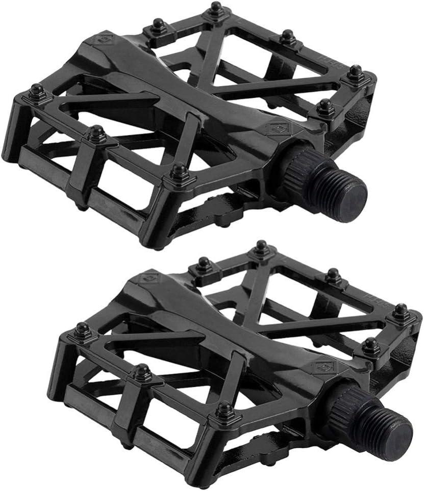 Noir alliage daluminium Pour v/élo VTT BMX v/élo de course v/élo de ville Antid/érapantes VOSAREA Lot de 2 p/édales de v/élo en m/étal pour VTT