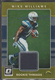 2017 Optic O Mike Williams Chargers Rookie Jersey Football Card #4