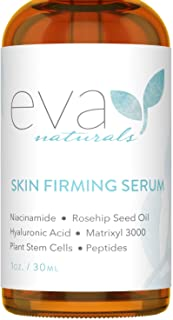 Best Eva Naturals Skin Firming Serum (1oz) - Day or Night Serum Instantly Firms Loose Skin and Refines Wrinkles - With Plant-Derived Amino Acids, Hyaluronic Acid, Peptides and Niacinamide - Premium Quality Review