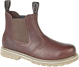 Land of Wood Woodland Mens Tumbled Leather Gusset Chelsea Boots