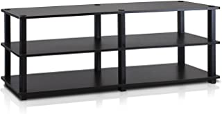 Furinno 14038EX/BK TST No Tools 3-Tier Wide Shoe Storage Rack, Espresso/Black