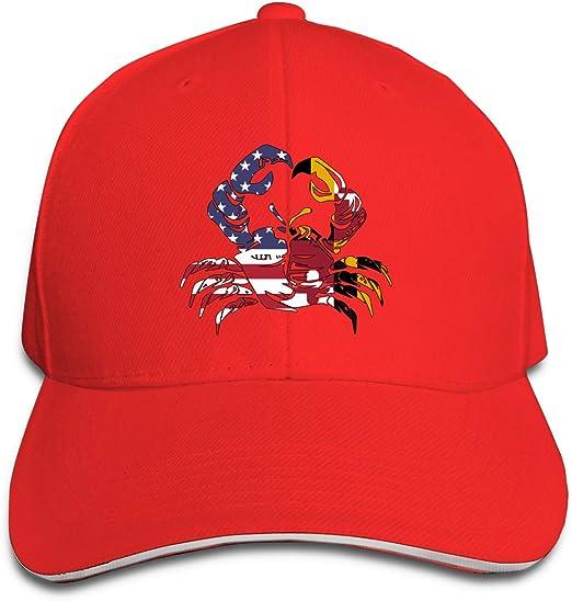 GENZHESI Maryland Red Line Crab Adjustable Baseball Hat Dad Hats Trucker Hat Sandwich Visor Cap