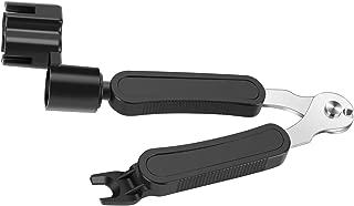 MOREYES Guitar String Winder Cutter and Bridge Pin Puller, Guitar Repair Tool Functional 3 in 1 (Black)