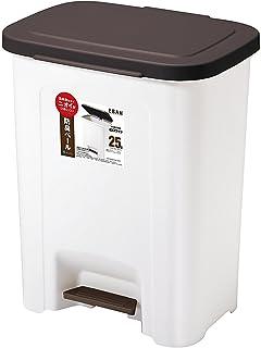 アスベル ゴミ箱 ペダルペール25L 「R防臭エバン」 6414 ブラウン