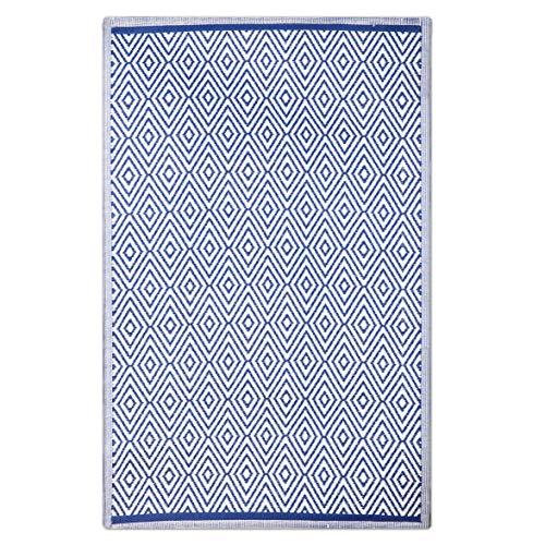 Alfombra de salón árabe Azul de Polipropileno para Comedor de 180 x 270 cm Vitta - LOLAhome