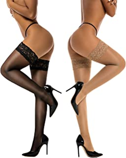 light support thigh high stockings