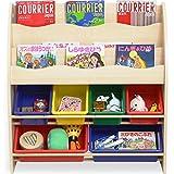 LOWYA おもちゃ収納 絵本棚 絵本ラック 本箱 おもちゃ箱 子供用 木製 タイプC おしゃれ 新生活