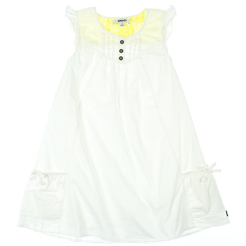 DKNY Girls 2-6X Sleeveless Button Up Dress