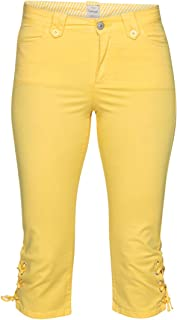 bf9ec64eeb5e8 Amazon.fr : pantacourt femme - Jaune / Shorts et bermudas / Femme ...