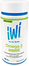 iWi Alage Based Omega-3 EPA+DHA Higher Absorption Fish or Krill Oil Vegan Softgels 85 ct.