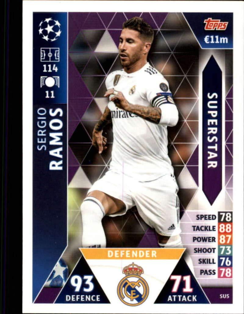 Ligue des Champions 18//19 Carte su5-Sergio Ramos-Superstar