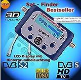 SaferCCTV SF95DR Digital Satellite Signal Meter Finder for Dish Network Directv Dish with Compass FTA DVB S2 DVB S