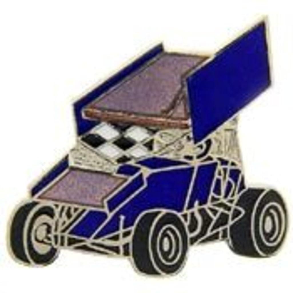 EagleEmblems P06874 Pin-Car,Sprint,Wing,Blue (1'')